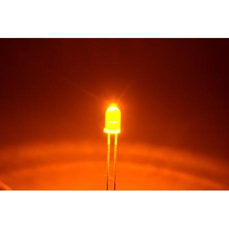 светодиод 5мм, желтый