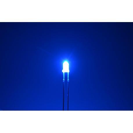 светодиод 3мм, синий