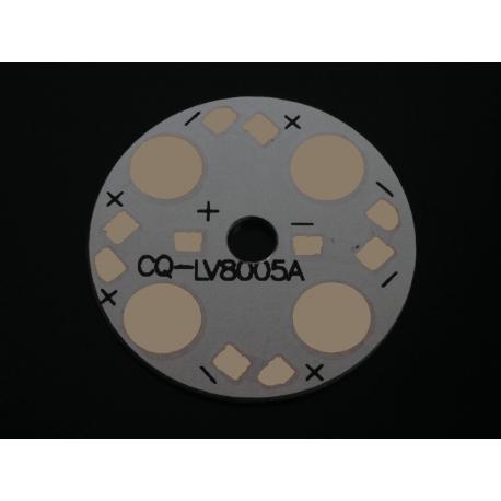 Алюминиевая плата 28мм для 4-х светодиодов
