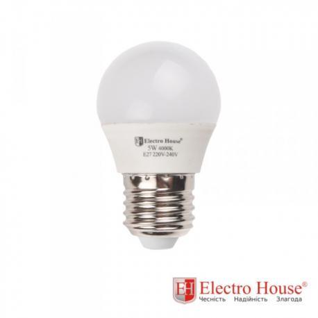 Светодиодная лампа 5W Е27, рассеиватель G45