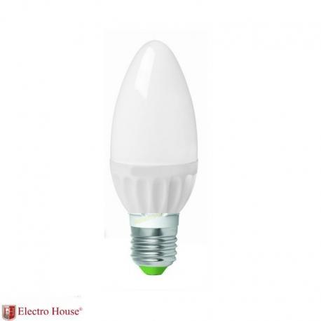 Светодиодная лампа 5W Е27, рассеиватель С37