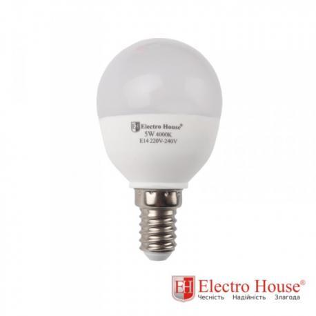 Светодиодная лампа 5W E14, рассеиватель P45
