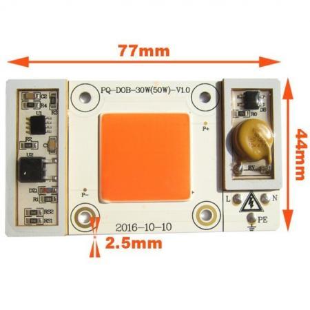 Светодиодная матрица 50Вт для растений 220V