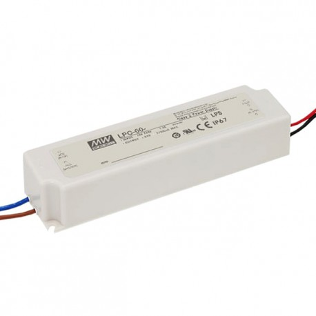 LPC-60-1400. LED driver 60W, 1400mA, 9-42V